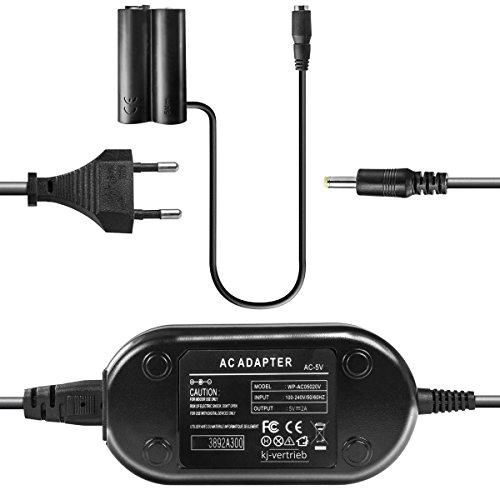 kj-vertrieb Netzteil mit Akkuadapter für Fuji FinePix S1000, S2000, S2800, S3200, S4050, HS20 - ersetzt CP04, CP-04, AC-5X, AC-5V, AC-5VX - 5V 2A