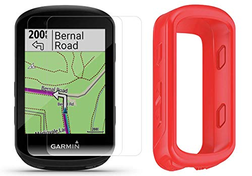 Amazing Deal Garmin Edge 530 Cycle GPS with Silicone Case & HD Tempered Glass Screen Protectors (x2)...