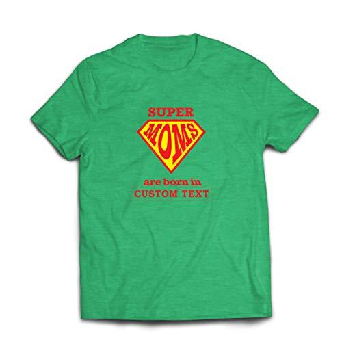 lepni.me Camisetas Hombre Regalo de cumpleaños Personalizado para Las Súper Mamás, Idea de Regalo Personalizado (X-Large Brezo Verde Multicolor)
