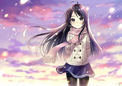 Aaubsk Puzzle 1000 Piezas Imagen de Arte de Anime Beautiful Girl Series 1 Puzzle 1000 Piezas Adultos Juego de Habilidad para Toda la Familia, Colorido Juego de ubicación.50x75cm(20x30inch)