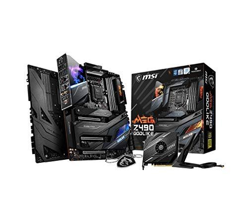 MSI MEG Z490 GODLIKE Carte mère E-ATX 10 génération Intel Core LGA 1200 Socket DDR4, SLI/CF, Trois emplacements M.2 Thunderbolt 3 Type-C, Wi-FI 6, Mystic Light RGB, 7C70-005R