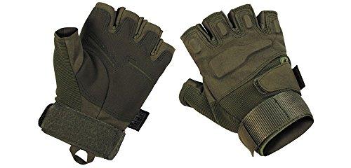 Unbekannt MFh Fingerlose Tactical Handschuhe Protect Taktische Einsatzhandschuhe ohne Finger Securitygloves Polizei verschiedene Ausführungen (M, Oliv)