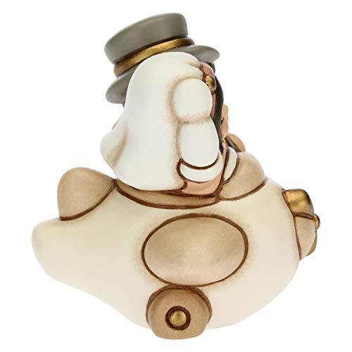 THUN - Coppia Sposini Viaggiatori su Aereo - Bomboniere Matrimonio - Linea Cerimonia - Formato Piccolo - Ceramica - 6,3 x 6 x 7 h cm