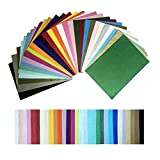 iKesoce 300 Sheets A4 Coloured Tissue Paper 30 Mixed Colors Gift Wrapping Paper Decorative Solid Colour Crepe Paper for Art Craft, DIY Gift Boxes Fillers Wedding Party Decoration