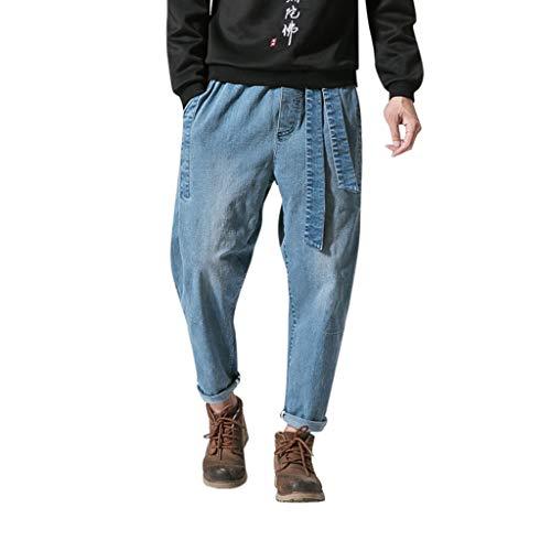 Herren Exquisite Klassische Vintage Jeans Urban Baggy Denim Hip Hop Tanzen Hosen