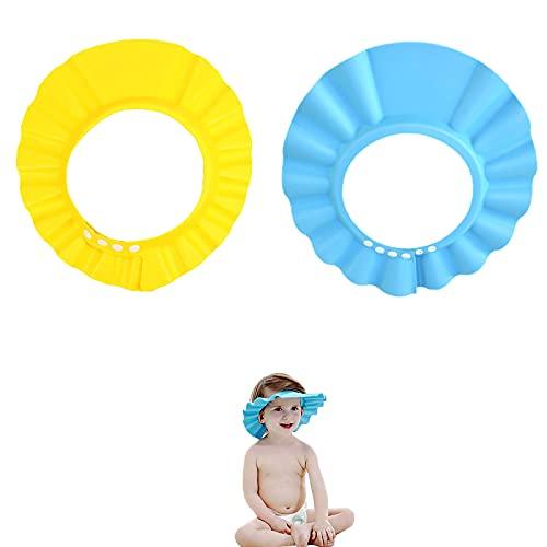YFT 2 pezzi Doccia Cap per Bambino, Sicurezza Cappello da Bathing per Bambini,Cappello da Doccia per Bambini Regolabile,Prevenire l Acqua Flusso Verso Occhi e Viso, per la Cura del Bambino.