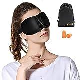 Viedouce Antifaz para Dormir,2021 Máscara de Ojos 3D,Máscara para Dormir con Ajustable Correa,Antifaces para Ojos,Cómodo Transpirable y Compacta(3D-Negro)