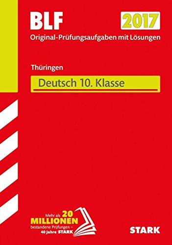 STARK Besondere Leistungsfeststellung Thüringen Gymnasium - Deutsch 10. Klasse
