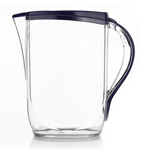 Jarras Botella De Agua De Plástico Botella De Agua Fría Doméstica Botella De Agua Fría Jugo Resistente Al Calor De Gran Capacidad Tetera De Verano Tetera 3L (Color : Blue, Size : 26 * 25.8cm)