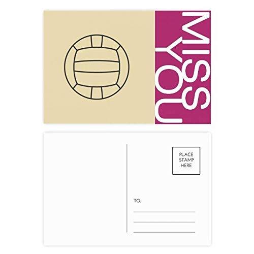 DIYthinker Volleyball Sport Line Zeichnung Muster Fräulein Postkartenset dankt Karte Mailing Side 20pcs 5.7 Zoll x 3.8 Zoll Mehrfarbig