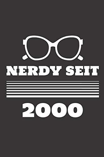 Nerdy Seit 2000: Notizbuch (120 Seiten Dot Grid Papier, Softcover)