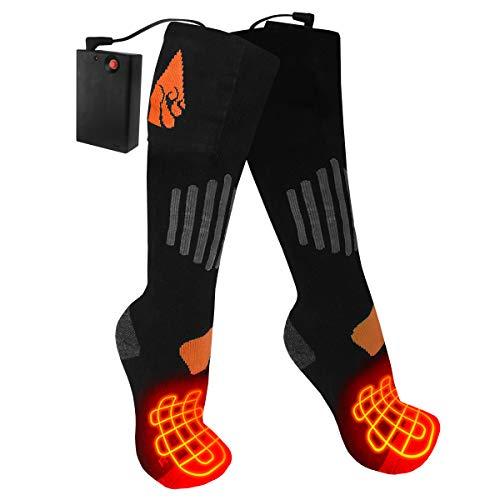 actionheat lana AA recargable climatizada calcetines, Negro