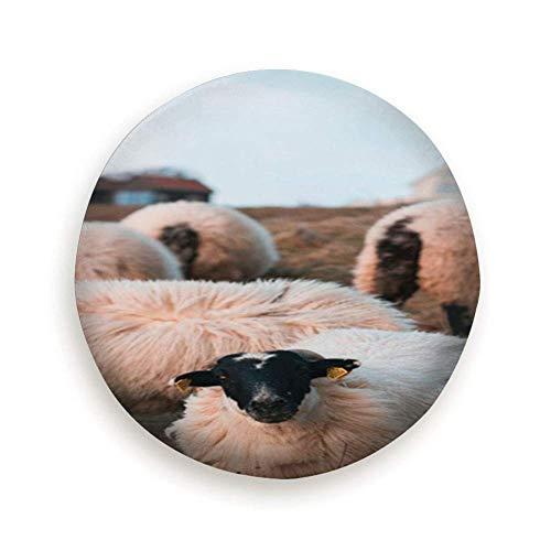 LREFON Repuesto Cubierta de neumático 15' Grupos de ovejas Noruega Naturaleza Agricultura Cubierta Ligera para Autos de Repuesto