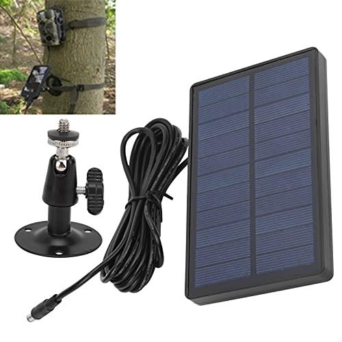 Rodi Panel Solar de 9V para cámara, Panel Solar portátil de batería de polímero de Litio de 2400mAH para cámara para Casas Que acampan al Aire Libre