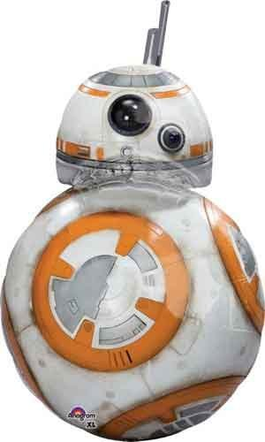 33' Anagram Star Wars The Force Awakens BB8 Shape Birthday Party...