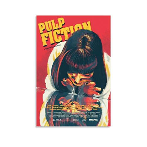 Huangchen Klassisches Filmposter, Pulp Fiction Mia Wallace, dekoratives Gemälde, Leinwand, Wandkunst, Wohnzimmer, Poster, Schlafzimmer, Malerei, 50 x 75 cm