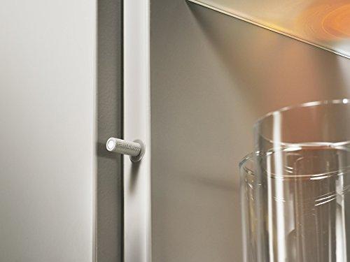 Blum 956.1004 TIP-ON Set voor standaard kastdeuren met hoogte minder dan 48 Inc, Tip op voor standaard deuren Dust Grey