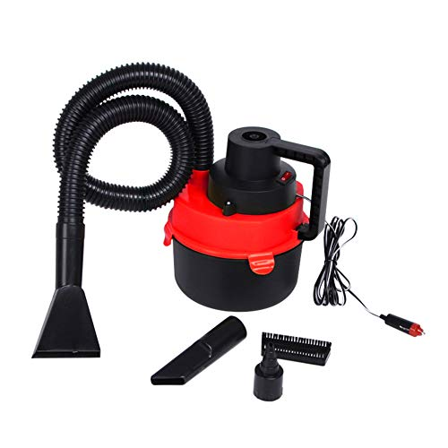 Kukakoo 2019 Automatic Vacuum Cleaner, Multiple Cleaning Modes Best for Pet Hairs, Hard Floor60W 12V Portable Handheld Wet Dry Super Suction Air Pump Car Vacuum Cleaner - Red