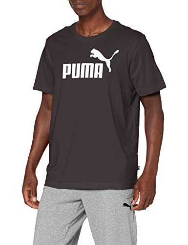 Puma Essentials LG T Camiseta de Manga Corta, Hombre, Negro (Cotton Black), M