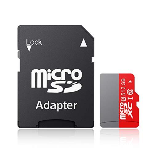 ANNKEEM マイクロ カード スマホ タブレット適用 高速転送UHS-I U3 正規品 大容量拡張100MB/s最大読み書きスピード SDアダプター付-B(512GB)