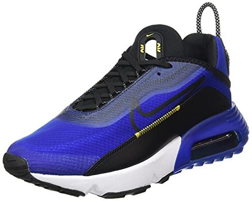 Nike Herren AIR MAX 2090 Laufschuh, Hyper Blue Black White Tour Yellow, 46 EU