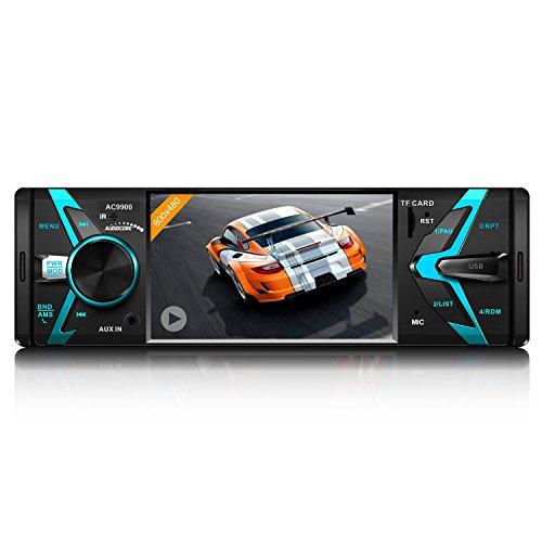 Audiocore AC9900 Autoradio avec écran TFT 800x480 Bluetooth MP5 Télécommande AUX SD USB Radio FM Audio Vidéo Voiture AVI DivX
