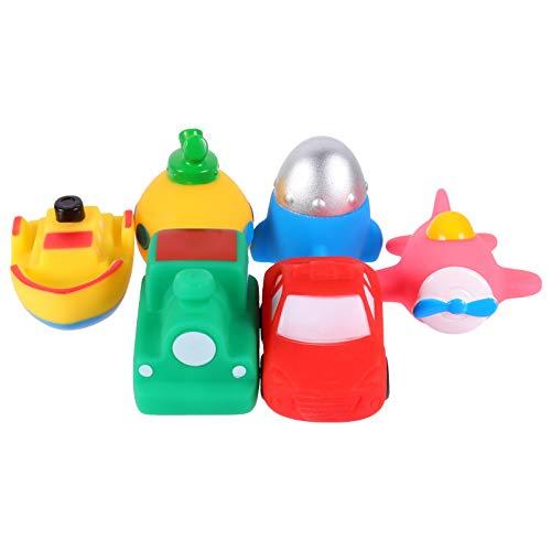 OSALADI 6 Piezas de Juguete de Baño para Bebés Juguetes de Baño Brillantes LED Avión Cohete Diseño de Barco Submarino Juguetes Flotantes para Piscina Juguetes para Bebés Pequeños
