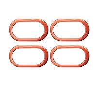 スマート453 FortwoでForfourで車内のドアボウル装飾シェルカバーカーアクセサリーインテリアスタイリング修正ステッカーのための (Color Name : Orange 4PCS)