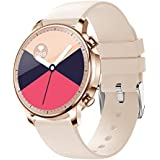 COLMI Smart Watch for Women Men,Waterproof Smartwatch with Heart Rate and Blood Pressure Monitor,Bluetooth Fitness Tracker Compatible with iPhone Andriod,Best Present for Couples (Gold)