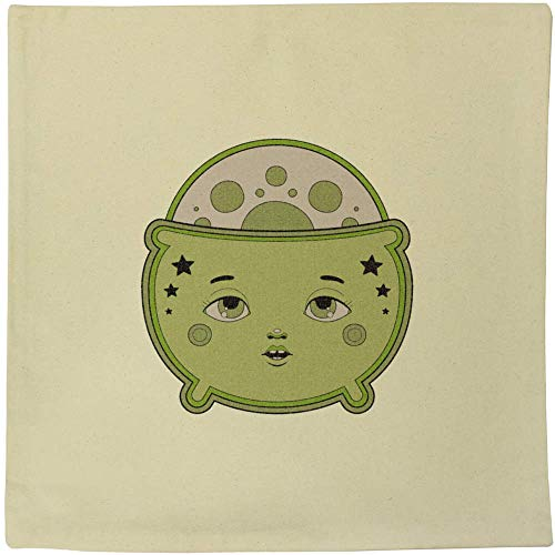 Azeeda 40cm x 40cm 'Cauldron With Face' Canvas Cushion Cover (CV00017858)