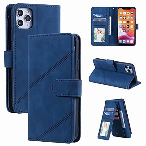 Funda para Samsung Galaxy A71 4G, cierre magnético, ranura para tarjeta de soporte, protección completa, a prueba de golpes, de piel, con tapa, para Samsung Galaxy A71 4G, color azul