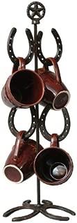 Black Forest Décor Cast Iron Horseshoe Mug Tree