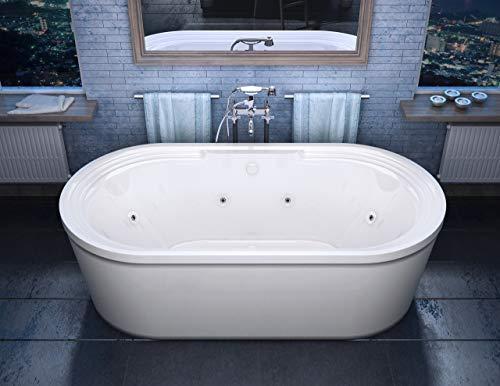 Atlantis Whirlpools 3467RW Royale 34 x 67 x 21 inch Oval Freestanding Whirlpool Jetted Bathtub
