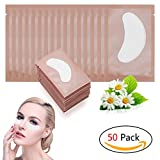 Adecco LLC 50 Pairs Eye Gel Pads, Eyelash Extension Under Eye Pads, Lint Free Lash Extension Under Eye Gel Patches for DIY False Eyelash Extension Makeup Supplies, Eye Mask Beauty Tool