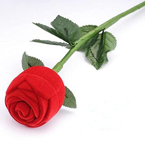 MUY Romantische Rose Blume mit Stab Ring...