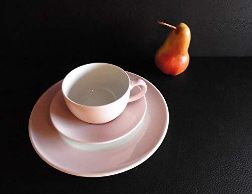 Dibbern Solid Color - Kaffeetasse 0,25 l m. U. + Teller flach 21 cm - zartrosa - NEU 1.Wahl