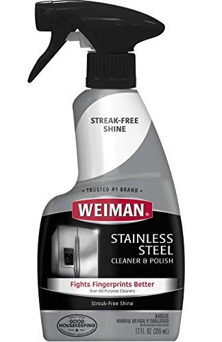 Weiman Limpiador y abrillantador de acero inoxidable, 12 fl oz