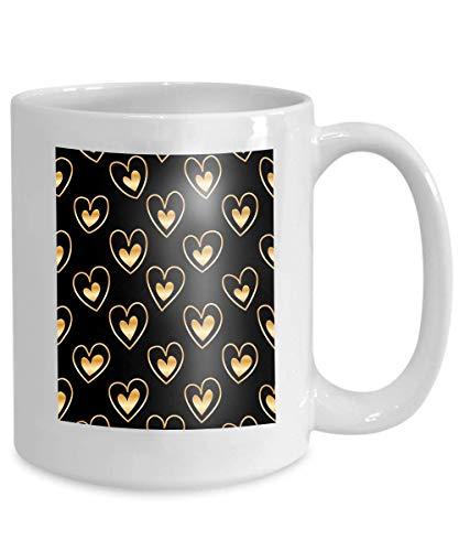 Taza de café divertida para el mejor amigo en Navidad - Diseño de cerámica blanca Concepto de Sutra de diamante abstracto Uso de línea dorada Diseño Proteger el corazón Quizás no más Fácil de lastimar