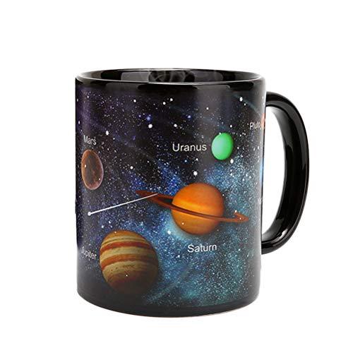BESTonZON Thermoeffekt Tassen Farbwechsel Kaffeetasse Trinkbecher Geschenke 330ml Sternhimmel (Solar System)