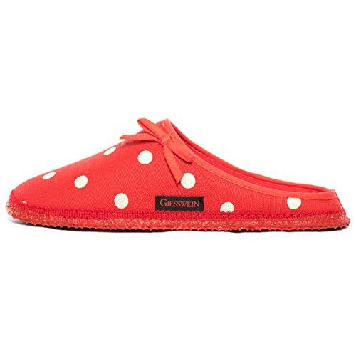 GIESSWEIN Damen Plein Pantoffeln, Rot, 39 EU