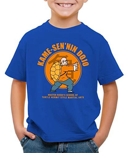 style3 Roshi Kame-Sen'nin Dojo T-Shirt pour Enfants Turtle Ball z Songoku Dragon, Couleur:Bleu, Taille:104