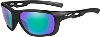 WileyX ASPECT Sunglasses, Polarized Emerald Mirror Lenses, Offered in Matte Black color from Eyeweb
