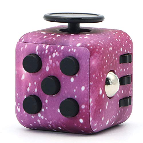 SYtrade Fidget Toys - Release Stress Cube for Kids Teen Adults - Antsy Anxiety Pressure Relieving Toy Multicolor…(Purple&Black)