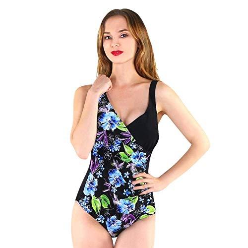 Einteilige Badeanzüge für Damen Deep V Swimwear Bikini Neckholder Bedruckte BH-Polster Stahlfreie Badeanzüge