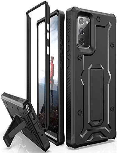 ArmadilloTek Vanguard Case Designed for Samsung Galaxy Note 20 5G (2020 Release) Military Grade Full-Body Rugged with Built-in Kickstand [Screenless Version] - Black