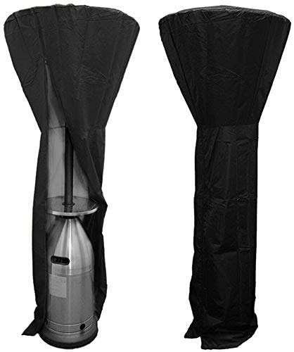 Wasserdicht Heizpilz Abdeckung, 210D Oxford Abdeckhaube für Terrassenstrahler 226x85x48 cm Wasserdichte Schutzhülle Winddicht UV-Beständige