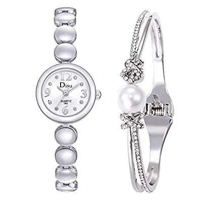 Watch for Girls,Light Luxury Watch Bracelet Set Chain Watch Girl's Birthday Gift(ulticolor)