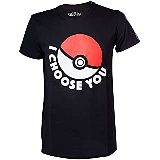 T-shirt 'Pokémon' : I Choose You - Taille M (B0158IT752) | Amazon price tracker / tracking, Amazon price history charts, Amazon price watches, Amazon price drop alerts