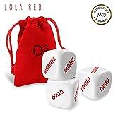 O³ Giochi di Coppia - Serate Flirt Grazie ai Dadi Lola Red - 100% in Italiano - Set di 3 ...