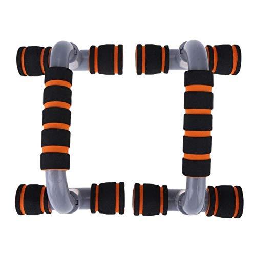 1 par Push Up Bar Stand Home Gym Equipment Fitness Pushup Board Herramientas de Entrenamiento de Ejercicio Marco portátil Brazo Entrenador Muscular, Naranja